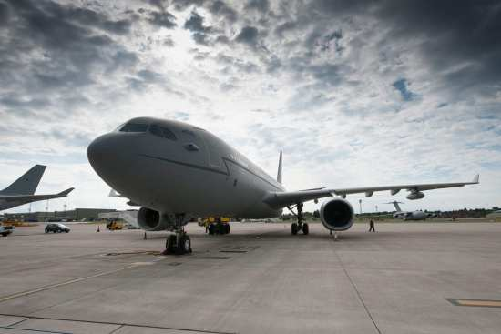 RAF Voyager Refuels Tornado GR.4 Strike Aircraft