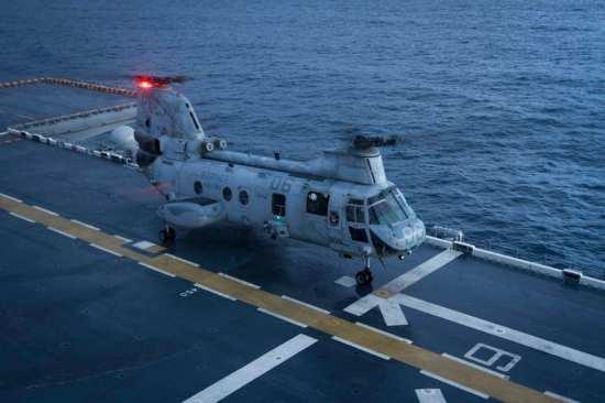 CH-64E aboard America