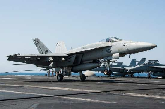 F/A-18 Hornets Launch and Recover Aboard USS George H.W. Bush