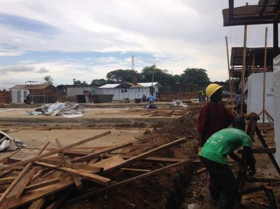 Liberia Ebola facility construction