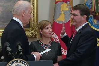 Swearing in Ashton Carter