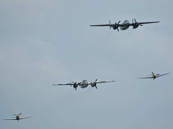 P-39, B-25s, P-40