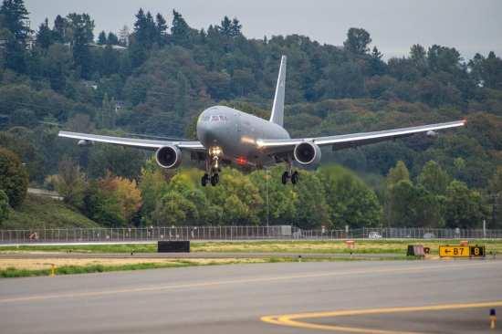 KC-46A lands