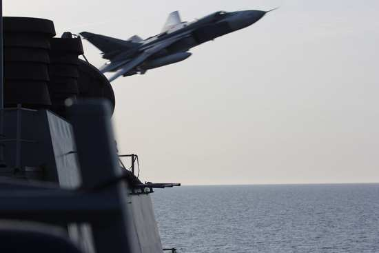 Russian Aircraft Buzz USS Donald Cook | Video