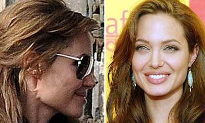Angelina Jolie con pliegues bajo la oreja por una cirugía llamada lift