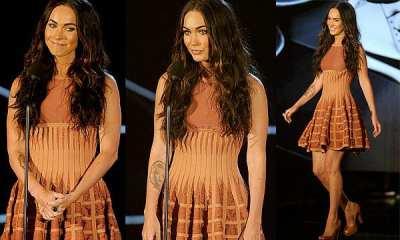 Megan Fox, ejemplo de bronceado artificial naranja