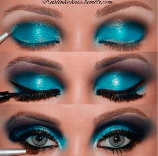 smokeyazul Smokey Eyes de colores para un look ahumado perfecto
