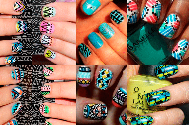 abstract nails Tendencias manicura verano 2012