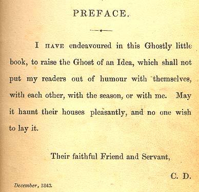 preface to A christmas carol