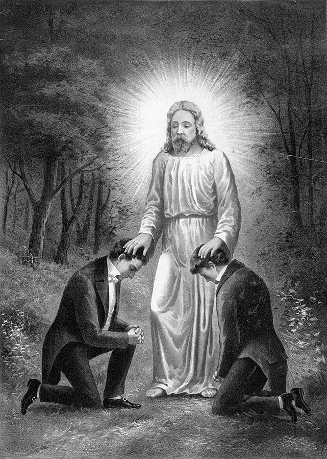 Joseph Smith and Oliver Cowdery receive the Aaronic Priesthood from John the Baptist