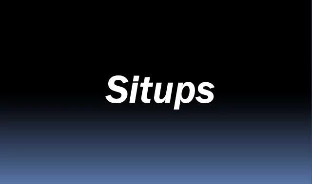Situps