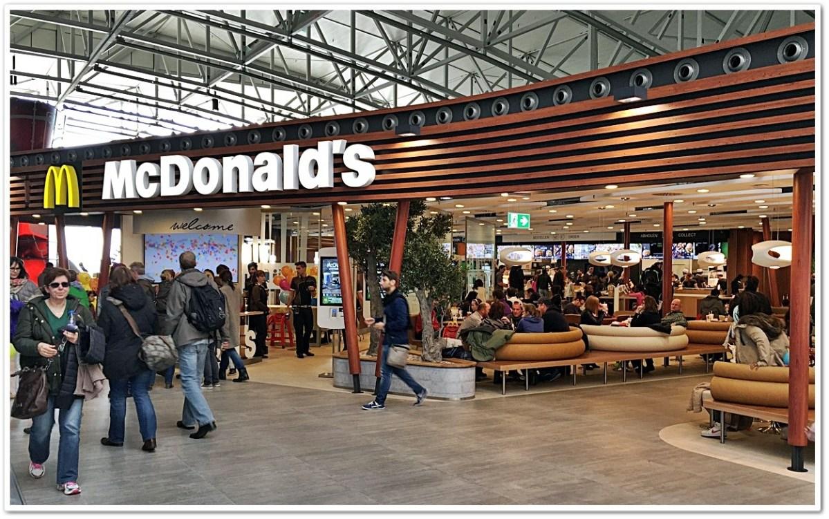 Der neue McDonalds Flagship Store im Terminal 2 Flughafen Frankfurt
