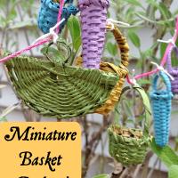 Miniature Basket Garland for a Fairy Garden!