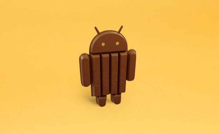 Android KitKat Yellow