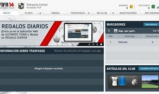 Ya disponible la aplicación web del Ultimate Team de FIFA 14