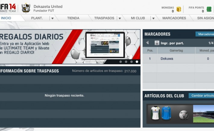 FUT FIFA 14 WEB