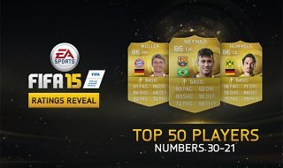 Los 50 mejores jugadores de FIFA 15: Hoy del 30 al 21