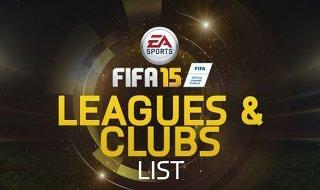 Lista completa de ligas y equipos de FIFA 15