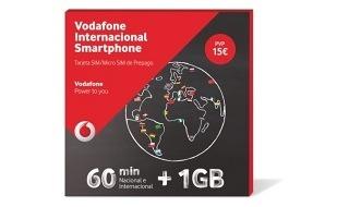 Vodafone Internacional Smartphone, tarifa prepago para llamar al extranjero