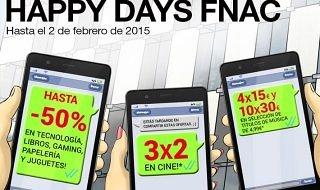 Los Happy Days de Fnac ofrecen descuentos de hasta el 50%