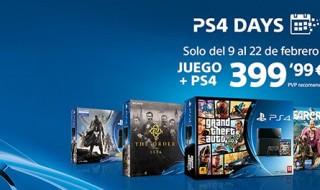 Hasta el 22 de febrero, varios packs de PS4 + juego por 399€