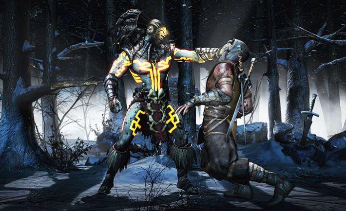 MortalKombatX_Kotal_Scorpion_SnowForest_Choke1