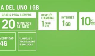 La del Uno 1GB, nueva tarifa de Yoigo para clientes con tarjeta