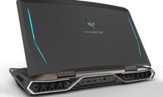 Acer presenta un portátil con pantalla curva de 21 pulgadas y nuevos monitores