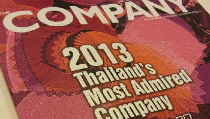 2013 Thailand&#8217;s Most Admired Company