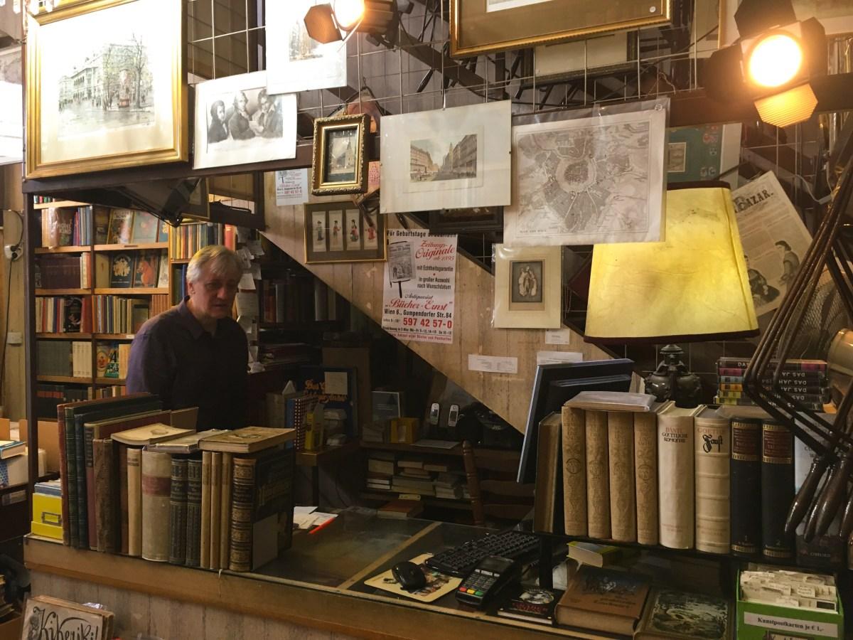 Das Buchgeschäft in Wien