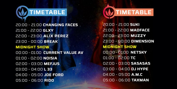 LET IT ROLL - timetable