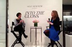 Lisa Tant (right), VP Fashion Editor at Holts speaks with Emily Weiss (left) of Into the Gloss