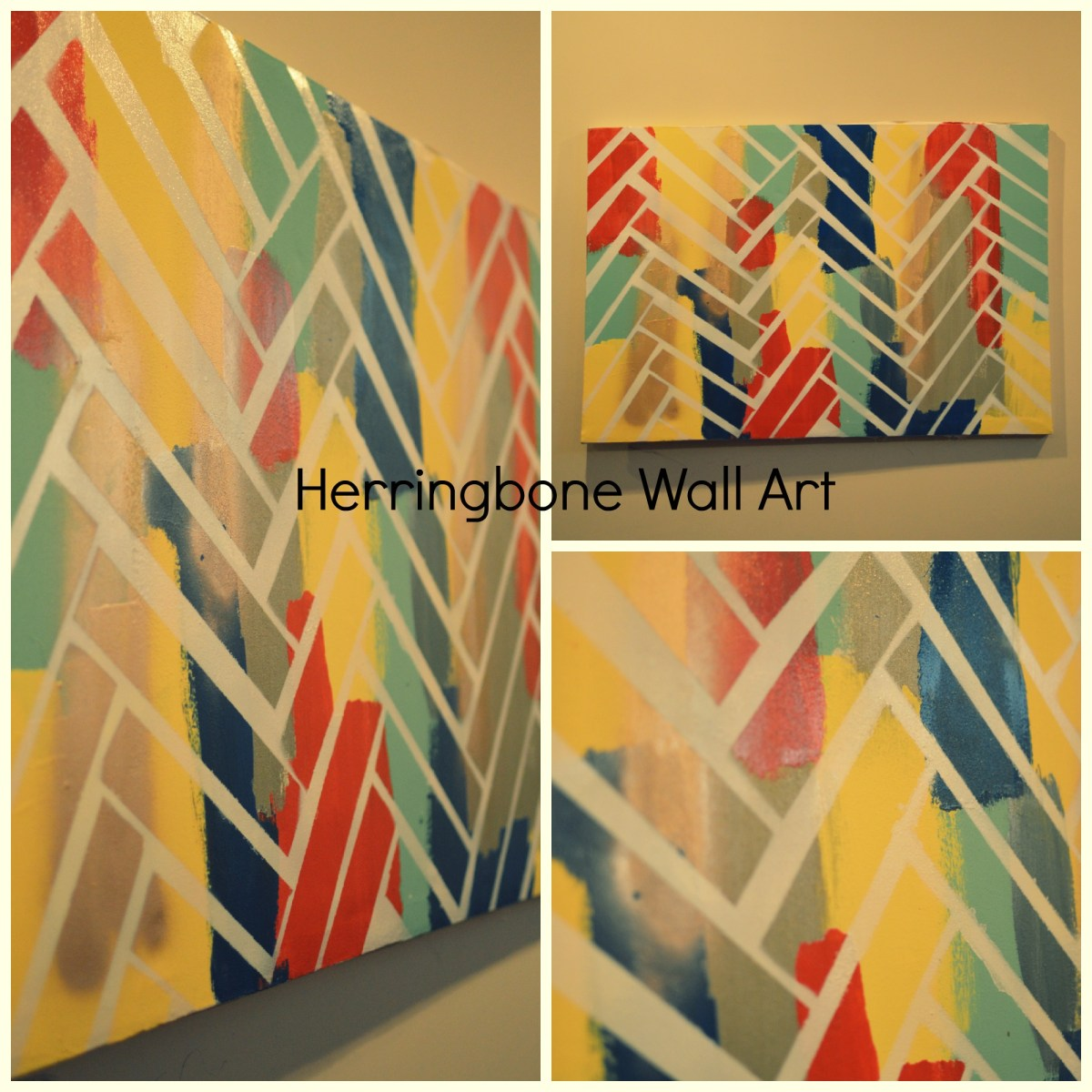 DIY Herringbone Wall Art