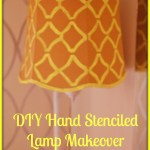 DIY Hand Stenciled Lamp Makeover