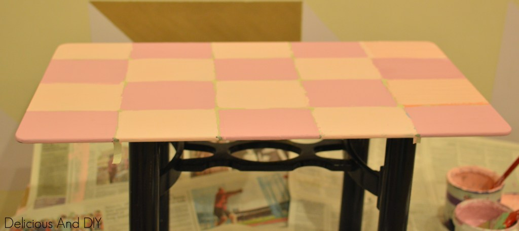 Pink and Purple Table Taped