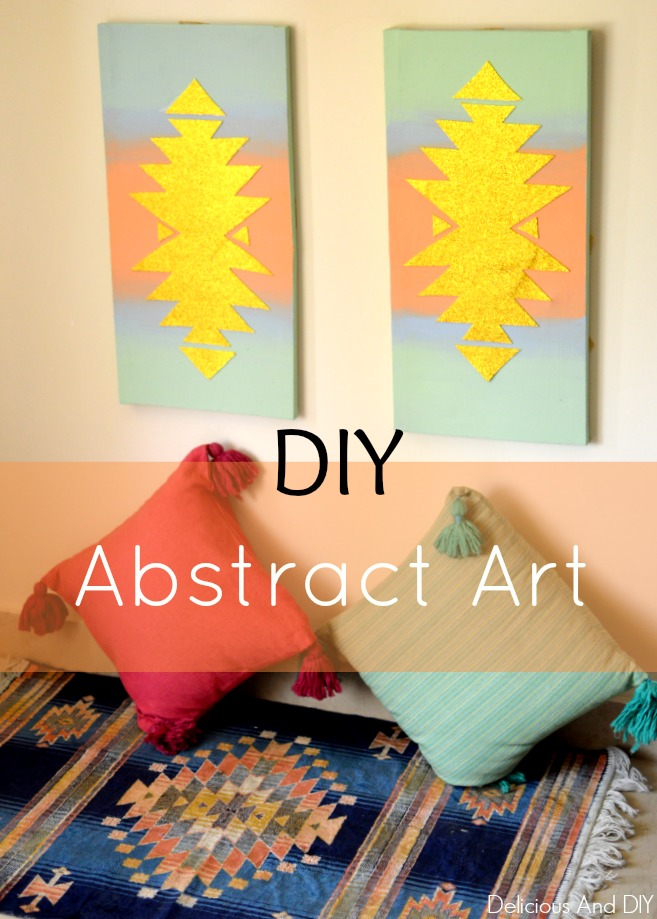 DIY Abstract Cardstock Art
