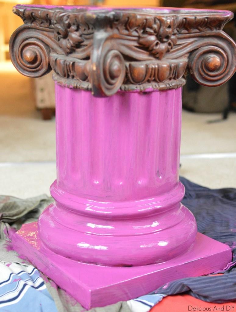 Wood Pillar Makeover