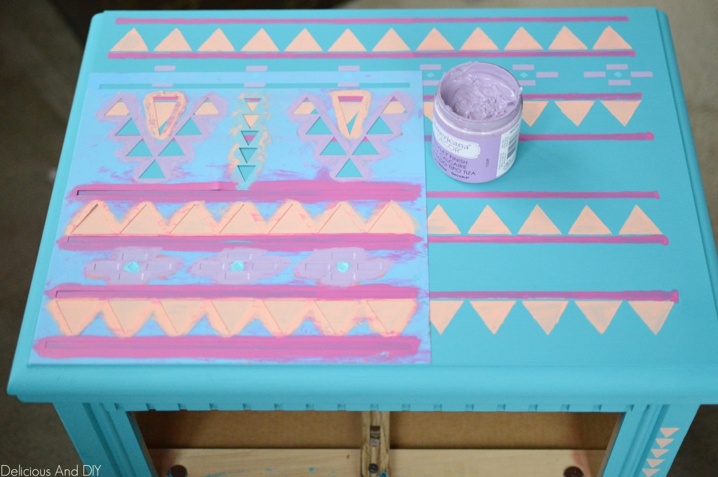 Aztec Table Mkeover- Delicious And DIY