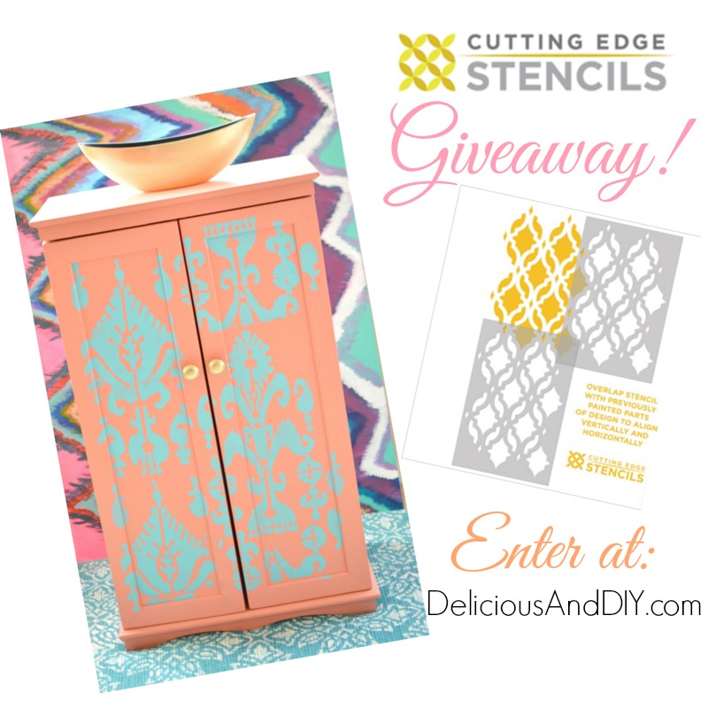 Ikat Storage Cabinet Makeover - Delicious And DIY