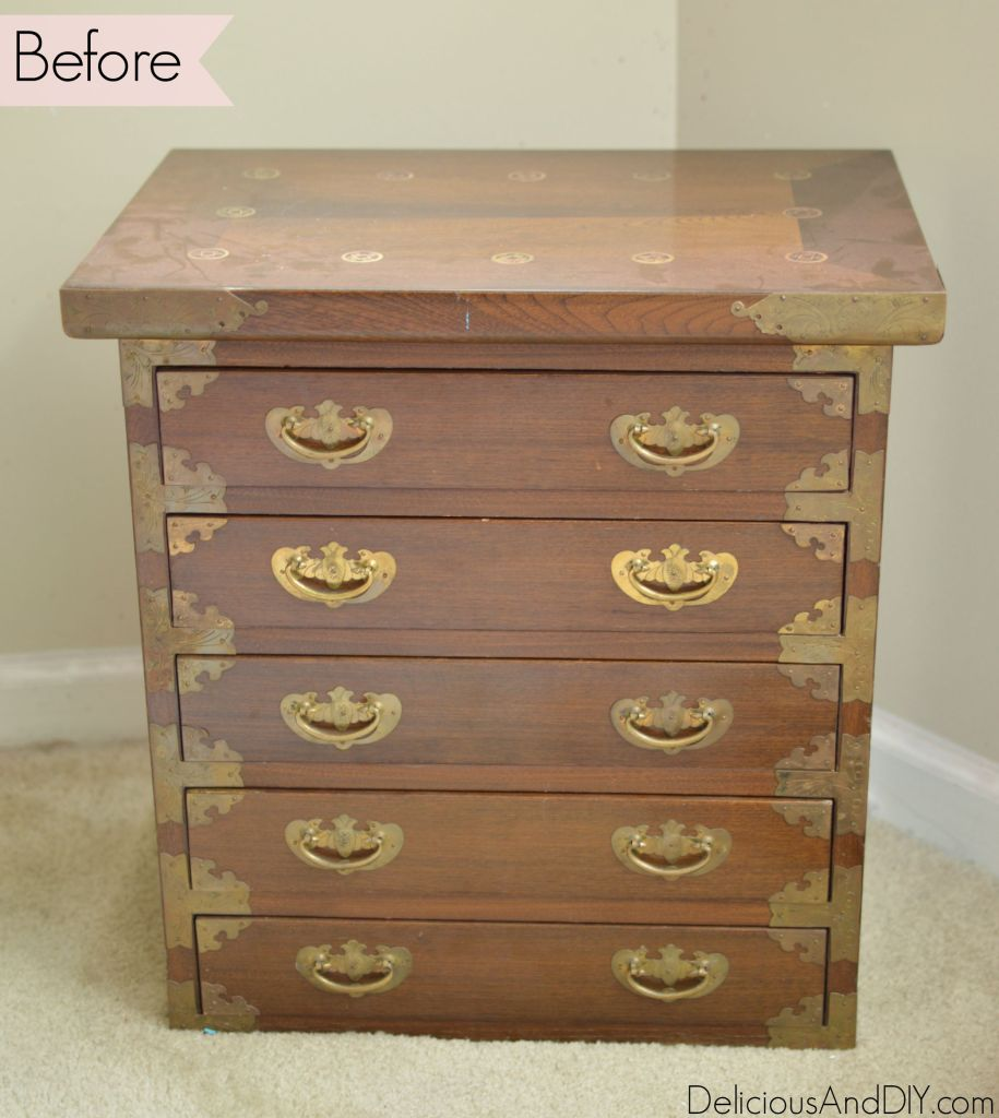 Mini chest of drawers makeover delicious and diy