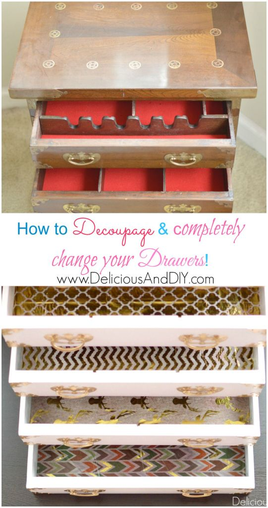 Mini Chest of Drawers- Delicious And DIY