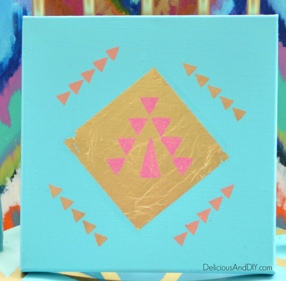 Tribal Art Canvas - Delicious And DIY