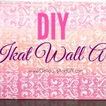 DIY Ikat Wall Art