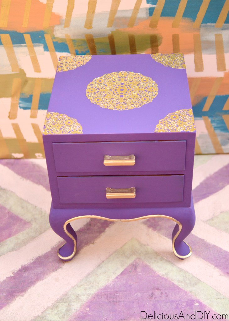 Doily Table Makeover - Delicious And DIY