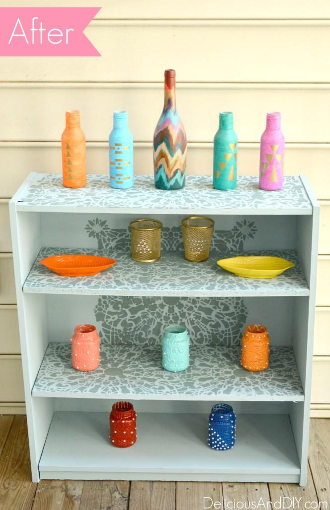 Bookshelf Makeover - Delicious And DIY