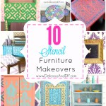 10 Stencil Furniture Makeovers