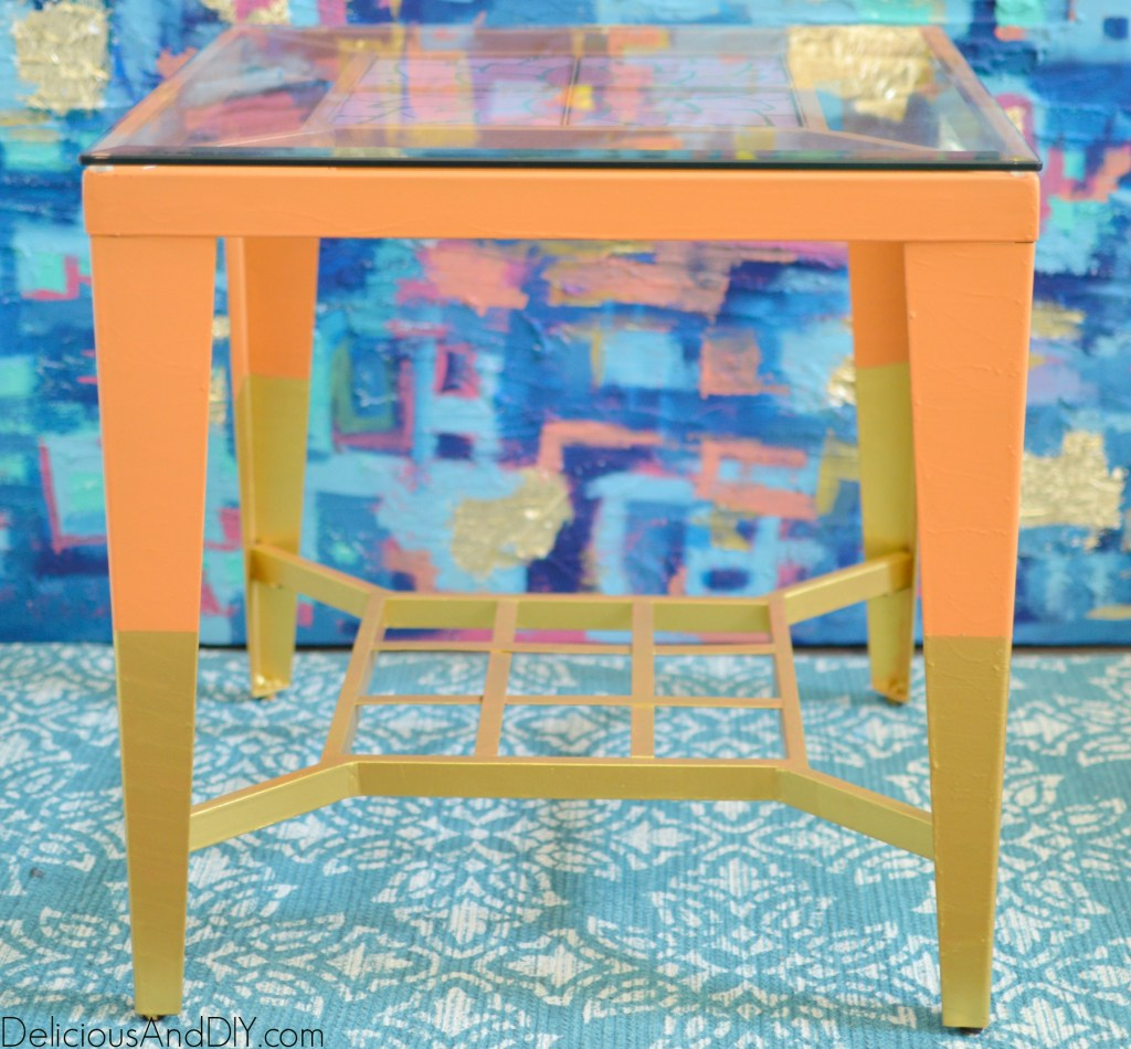 Refinished End Tables- Delicious And DIY