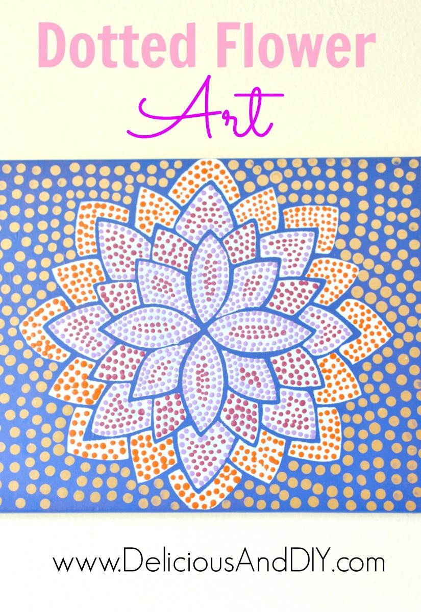 Dotted Flower Art