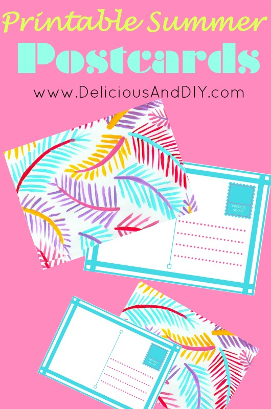 Hand Painted Printable Summer Postcards