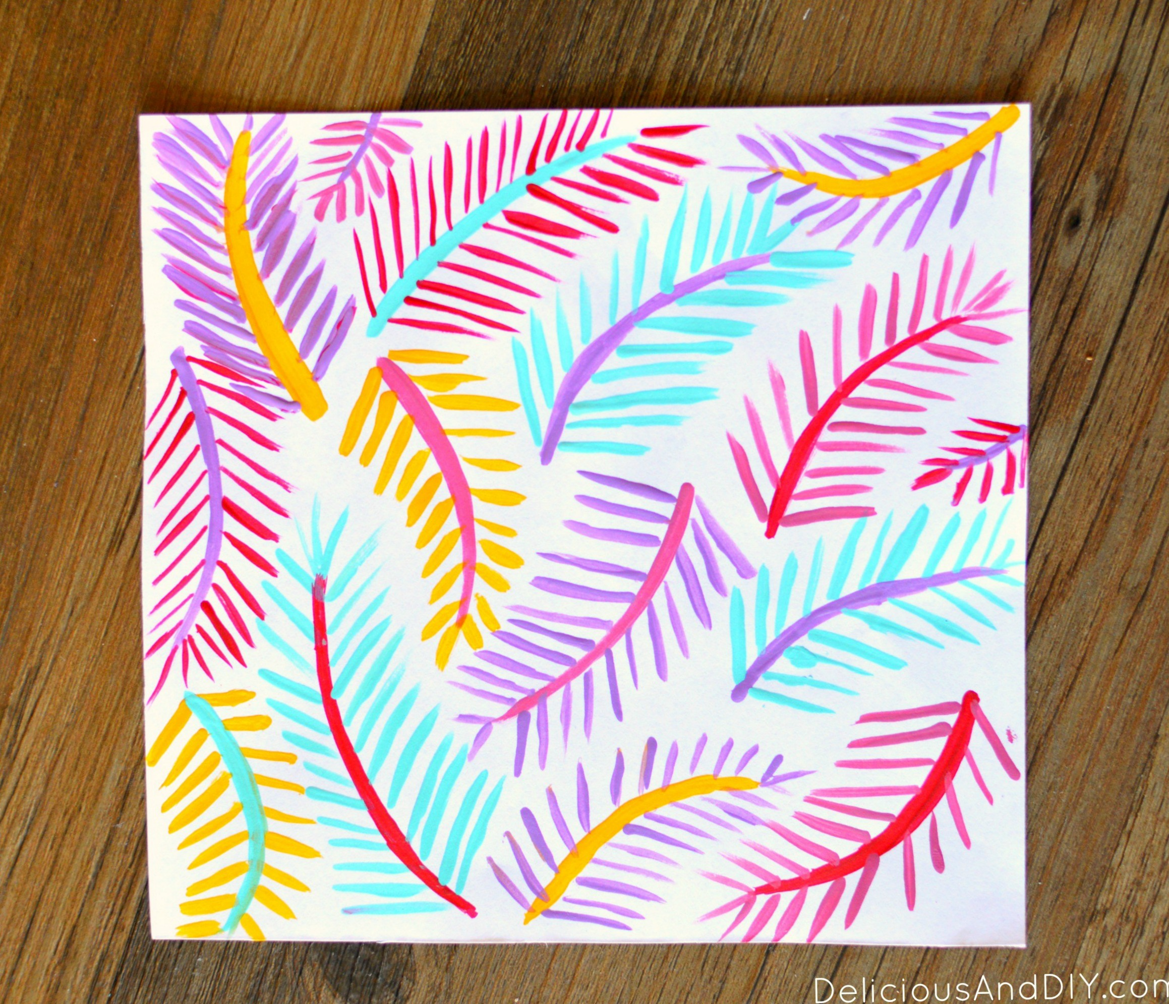 Free Printable Summer Postcards| Summer Craft Ideas| Create these fun palm leaf inspired postcards | Printables